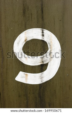 Old Number Nine - stock photo
