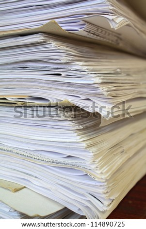 old office papers - stock photo
