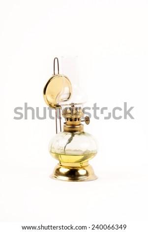 Old oil lamp - stock photo