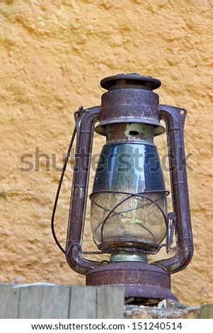 Old Oil Lamp in the Countryhouse