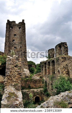 Old Okor castle ruins near Prague (Czech Republic)
