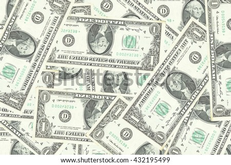 Old one hundred dollars banknotes for background. - stock photo