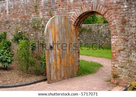 Secret Garden Door Stock Images, Royalty-Free Images ...