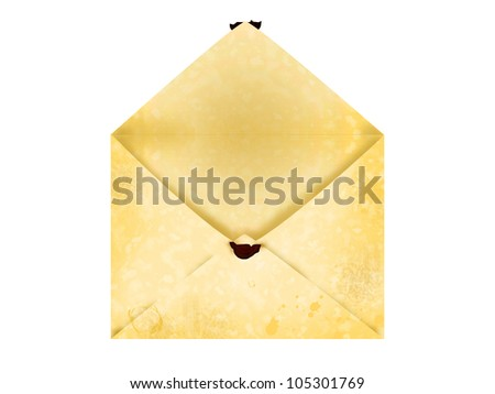 Old open letter envelope
