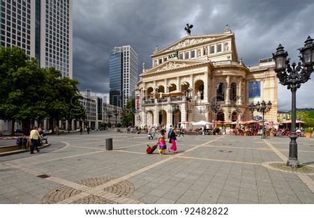 Old opera and theater in Frankfurt - stock photo