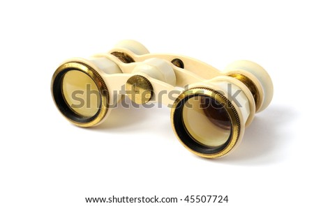 old opera glasses - stock photo