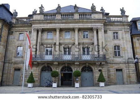Old opera house of Bayreuth - stock photo