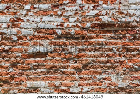 Old orange brick wall background texture. grunge brick wall
