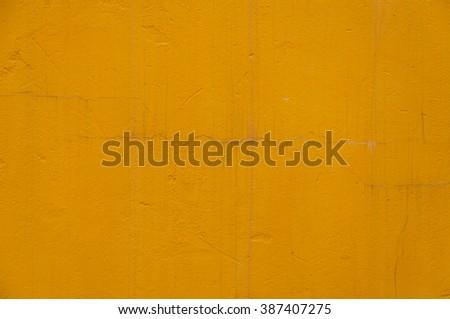 old Orange Cracked  concrete wall Texture - stock photo