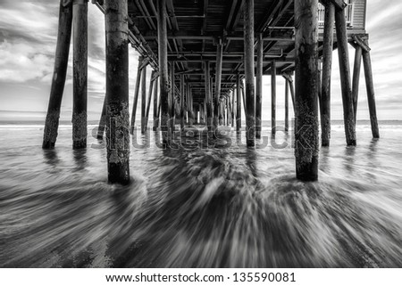 old orchard beach, ME - stock photo