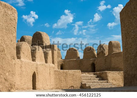 Old oriental antique fortress in Kazakhstan