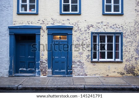 Old ornate building of the old town section of Quebec City, Canada - stock photo