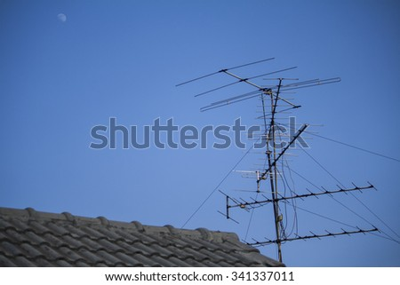 old outdoor tv antenna