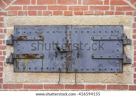 Old oven door - stock photo