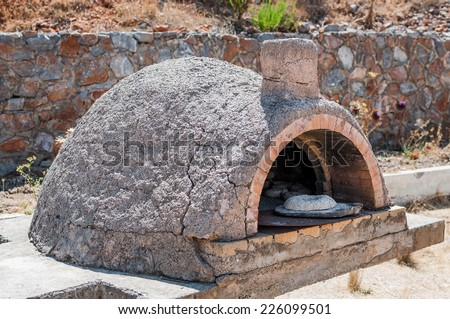 Old oven of stone age on Crete island, Greece - stock photo