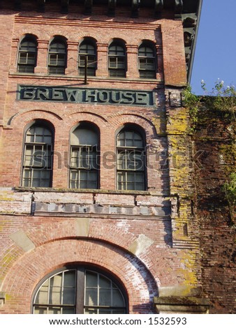 Old, Overgrown Brewery - stock photo
