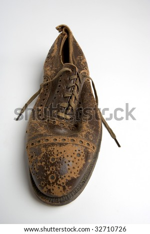 Old Oxford Men's Business Shoe - stock photo