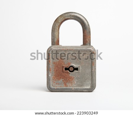 old padlock - stock photo