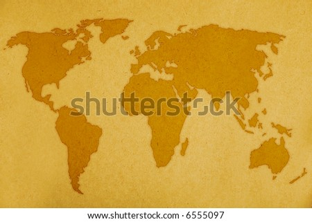 old page background with world map. - stock photo