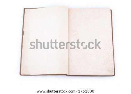 Old pages Open book - stock photo