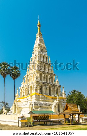 Old Pagoda in Wat Chedi Liam at Wiang Kum Kam, Chiang Mai, Thailand.  - stock photo
