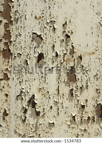 Old painted metal. - stock photo