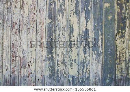Old painted wood texture.  Horizontal shot - stock photo