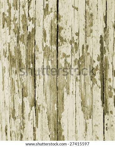 old painted wood toned green