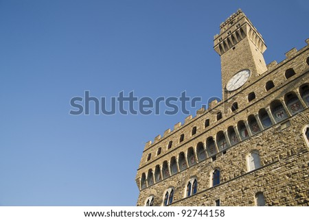 old palace florence toscany italy