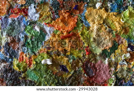 old palette - stock photo