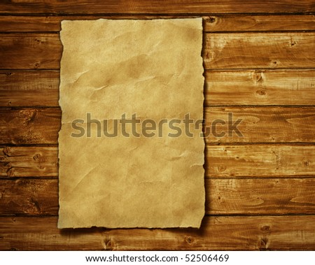 old paper and brown wood