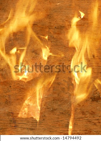 Old paper and fire - stock photo