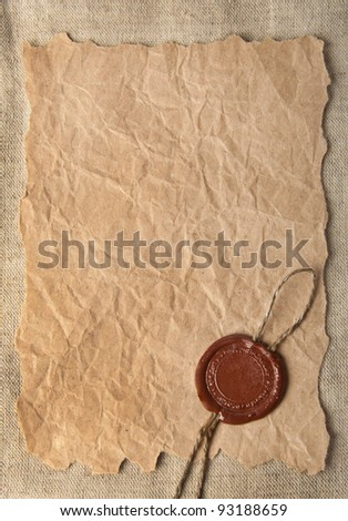 Old paper and the press - stock photo