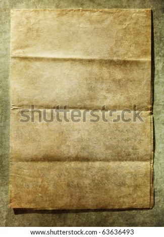 Old paper announcement (Vintage background) - stock photo