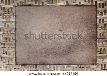 Old paper as bamboo wood background - stock photo