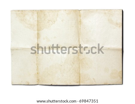 old paper background with colour pattern - stock photo