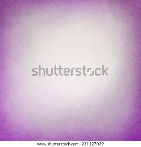 old paper background with distressed purple border edges, crumple worn vintage texture and faded off white center - stock photo