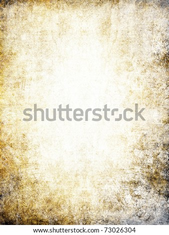 Old paper background with half-erased ornament. - stock photo