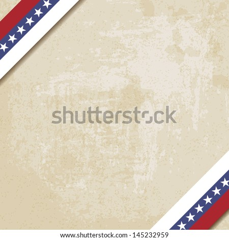 old paper background with striped ribbons (vector version in portfolio) - stock photo