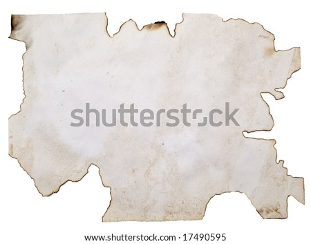 old paper blank great as a background isolated on white