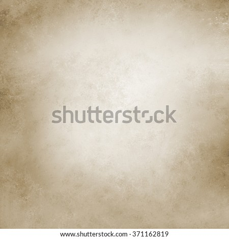 old paper. brown background. faded distressed vintage textured background. soft white center and brown grunge border, pale neutral background design - stock photo