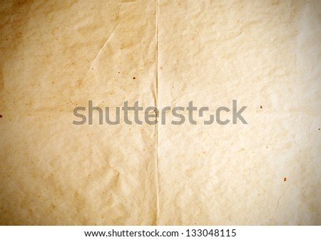 Old paper folds textures, vintage background with space - stock photo