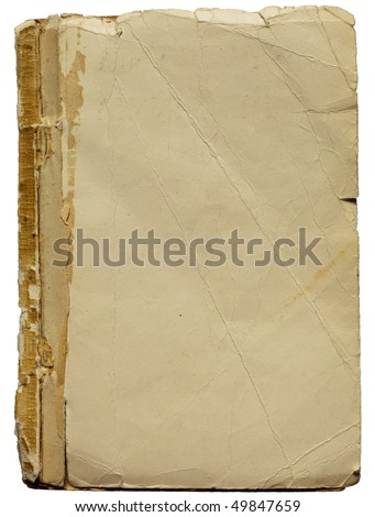 Old paper for background use. Isolated with clipping path - stock photo