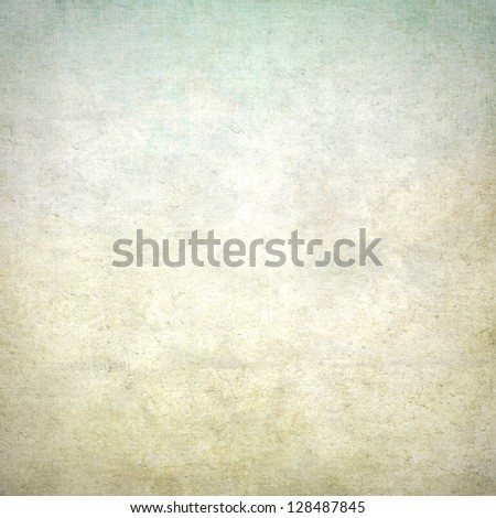 old paper grunge background with delicate abstract wall texture and blue sky view - stock photo