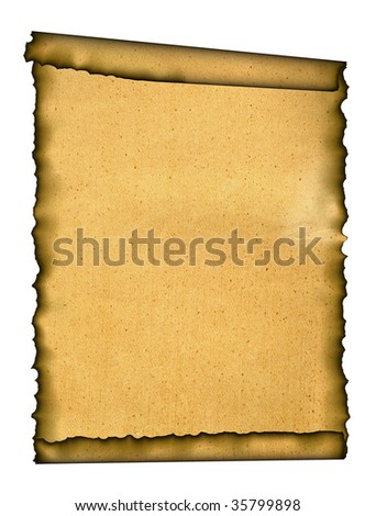 Old paper. Grunge background with space for text or image. Isolated on a white background