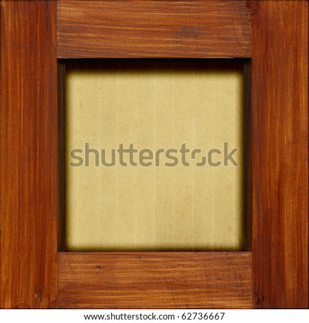 Old paper in a wooden frame