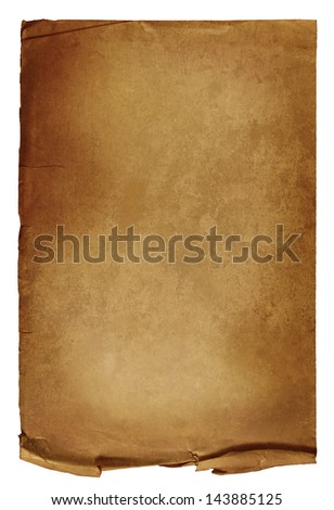 Old paper isolated - stock photo