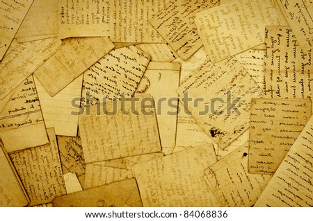 old paper, old letters, background