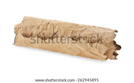 old paper on a white background - stock photo