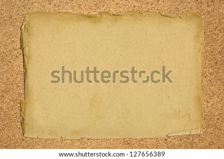 old paper on a wooden board- full scale background